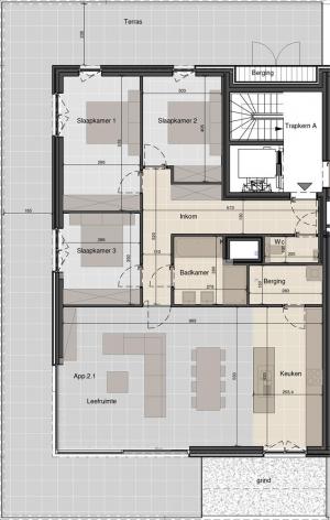 Prachtig penthouse met 3 slaapkamers