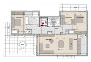 Mooie penthouse te Ledegem