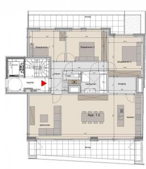 Appartement - Rollegemstraat 37 - 8880 Ledegem