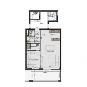 Gezellig en luchtig 1-slaapkamer appartement