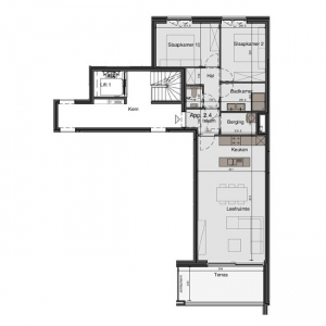 2slaapkamer appartement