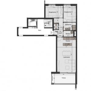 Mooi 2-slaapkamer appartement