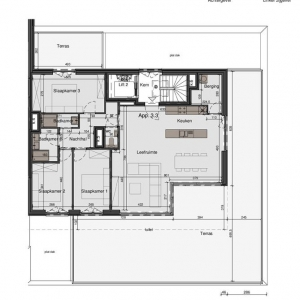 Mooie penthouse met 3 slaapkamers