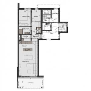 Gelijkvloers appartement