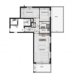 Mooi hoekappartement op de eerste verdieping