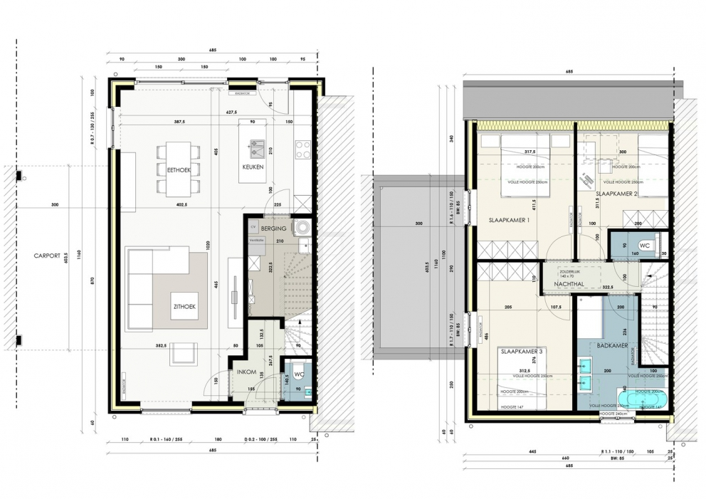 Landelijke, halfopen woning met 3 slaapkamers