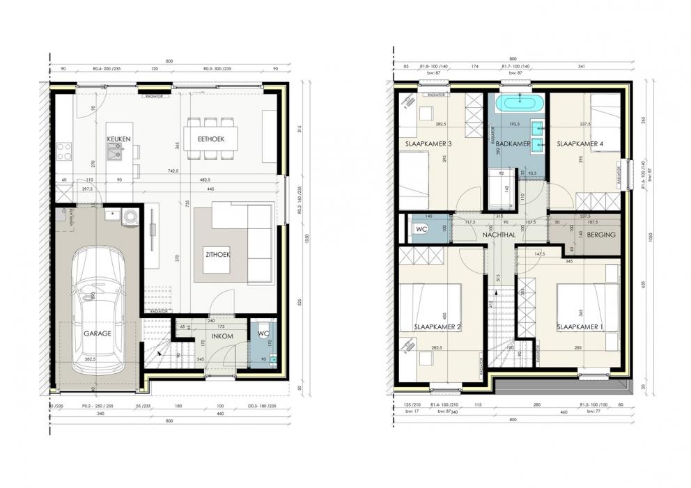 Moderne, halfopen woning met 4 slaapkamers